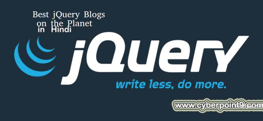 jQuery Framework Short Tutorial Notes Study Material with Examples in Hindi